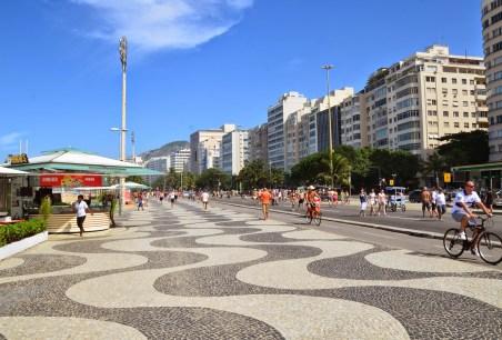 Sunday in Copacabana in Rio de Janeiro, Brazil