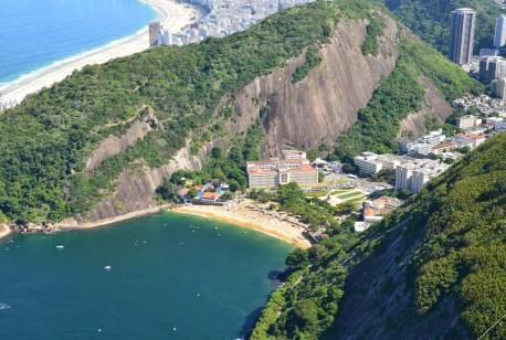 The view of Praia Vermelha from Pão de Açúcar in Rio de Janeiro, Brazil