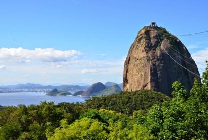 Pão de Açúcar from Morro da Urca at Pão de Açúcar in Rio de Janeiro, Brazil