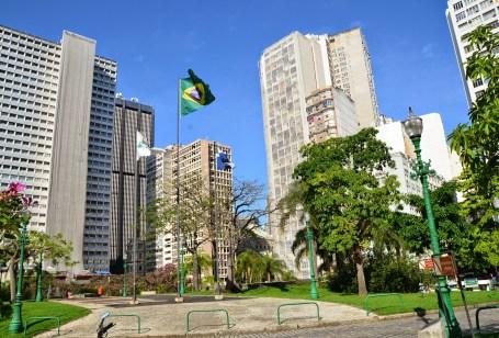 Largo da Carioca in Rio de Janeiro, Brazil