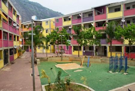 Housing project at Rocinha favela, Rio de Janeiro, Brazil