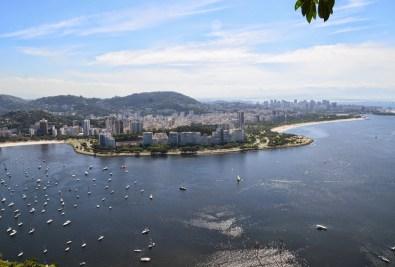 The view from Morro da Urca at Pão de Açúcar in Rio de Janeiro, Brazil
