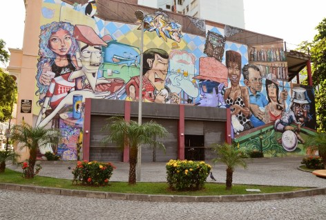 A mural dedicated to Lapa nightlife, Rio de Janeiro, Brazil