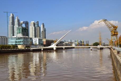 Puente de la Mujer in Puerto Madero, Buenos Aires, Argentina
