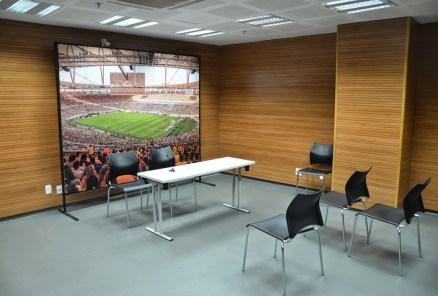 Press room at Estádio do Maracanã in Rio de Janeiro, Brazil