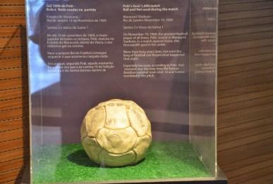 Ball from Pelé's 1000th goal at Estádio do Maracanã in Rio de Janeiro, Brazil