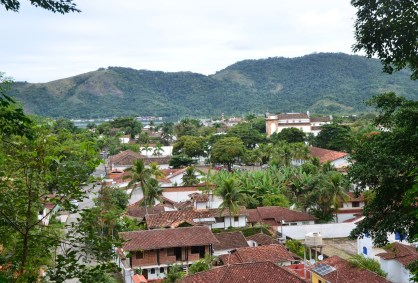 View of Paraty on the walk to Forte Defensor Perpétuo in Paraty, Brazil
