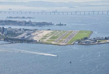 Santos Dumont Airport in Rio de Janeiro, Brazil