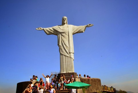 Cristo Redentor at Corcovado in the Tijuca Forest National Park, Rio de Janeiro, Brazil