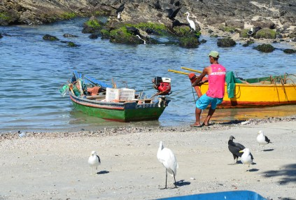 Fisherman at Boca da Barra in Cabo Frio, Brazil