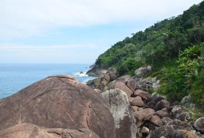 Pedra do Coqueiro at Praia do Aventureiro on Ilha Grande, Brazil