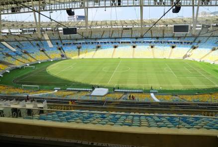 View from the press area at Estádio do Maracanã in Rio de Janeiro, Brazil
