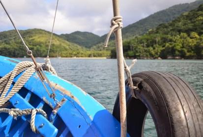 Boat to Praia Lopes Mendes on Ilha Grande, Brazil