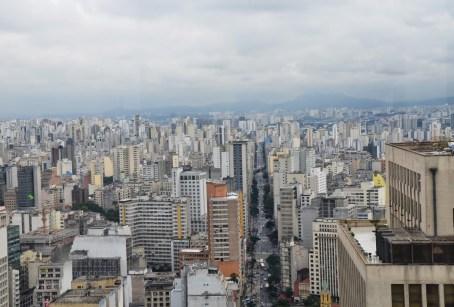 The view from Edifício Altino Arantes in São Paulo, Brazil