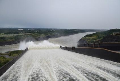 Crossing over the spillway at Itaipu Binacional in Foz do Iguaçu, Brazil