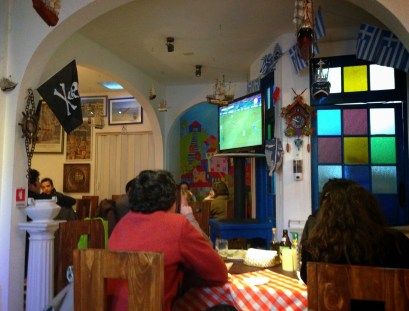Watching the game at Opa Opa in Santiago, Chile