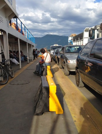 The ferry to Ilhabela, Brazil