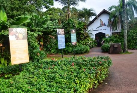 Entrance to the park at Parque das Aves in Foz do Iguaçu, Brazil