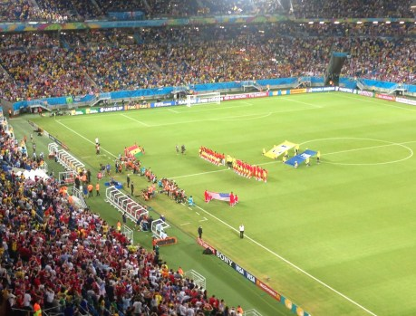 National anthems USA vs Ghana World Cup 2014 at Arena das Dunas in Natal, Brazil