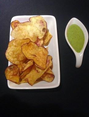 Potato chips at Marcelo Batata in Cusco, Peru