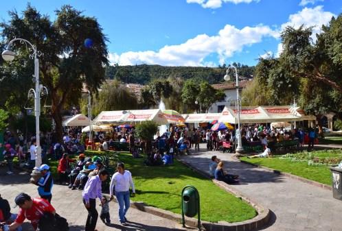 Plaza Regocijo in Cusco, Peru