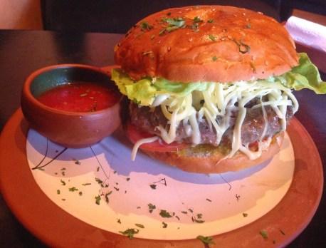 Los Perros burger in Cusco, Peru