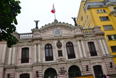 Casa de Correos y Telegrafos at Plaza Mayor in Lima, Peru