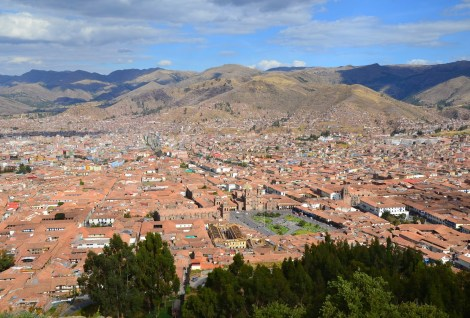 View of Cusco from Saqsayhuamán, Cusco, Peru