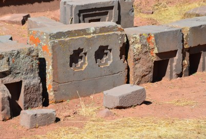 Cut stones at Pumapunku at Tiwanaku, Bolivia