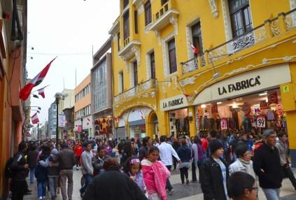 Jirón de la Unión in Lima, Peru