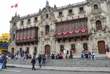 Palacio Arzobispal at Plaza Mayor in Lima, Peru