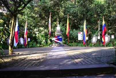 Monument to Bolívar at Quinta de Bolívar in Bogotá, Colombia