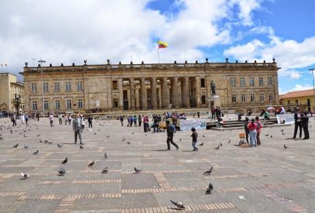 Capitolio Nacional on Plaza de Bolívar, La Candelaria, Bogotá, Colombia