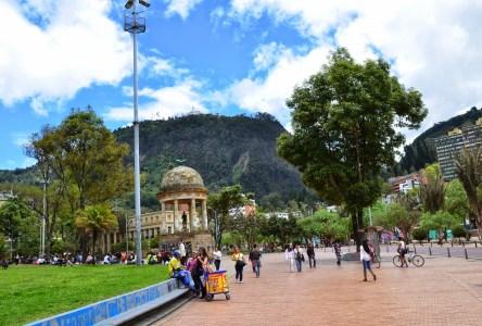 Parque de los Periodistas in Bogotá, Colombia
