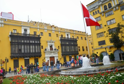 Plaza Perú at Plaza Mayor in Lima, Peru