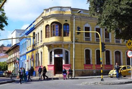 A building in La Candelaria, Bogotá, Colombia