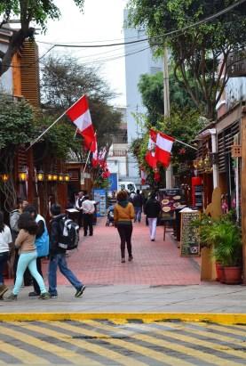Calle de las Pizzas in Miraflores, Lima, Peru