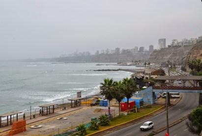 View from Bajada a los Baños in Barranco, Lima, Peru