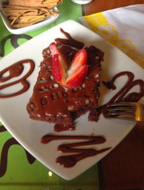 Brownie at ChocoMuseo in Cusco, Peru
