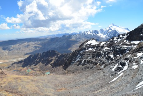The view from the top of Chacaltaya, Bolivia