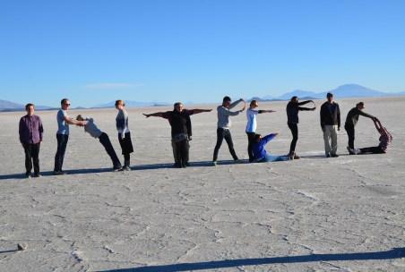 Photo ops at Salar de Uyuni, Bolivia