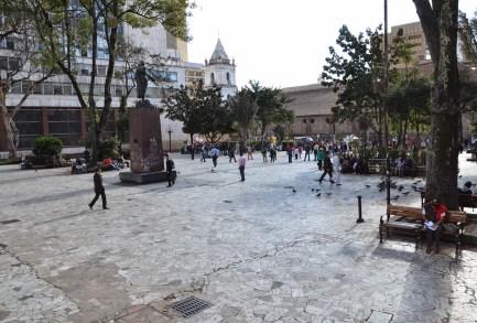 Parque Santander in Bogotá, Colombia