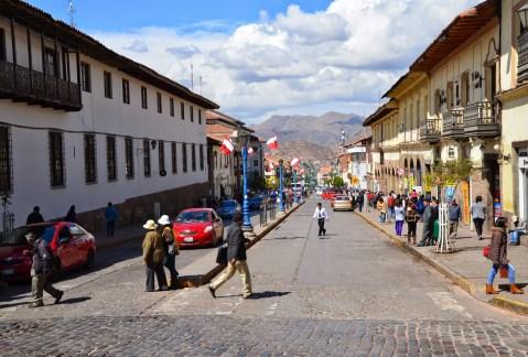 Avenida El Sol in Cusco, Peru