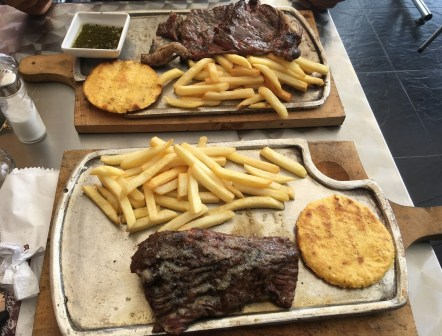 Steak at Parrilla y Carbón in Belén de Umbría, Risaralda, Colombia