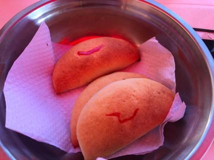 Sweet empanadas at El Eden in La Virginia, Risaralda, Colombia