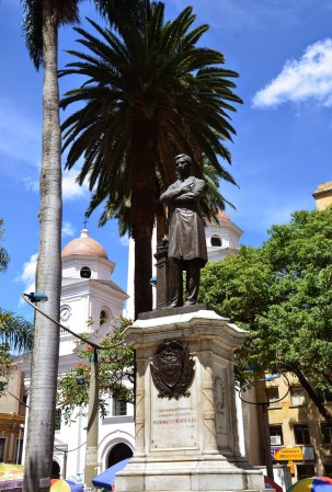 Pedro Justo Berrío statue at Parque Berrío in Medellín, Antioquia, Colombia