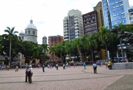 Plaza de Bolívar in Pereira, Risaralda, Colombia