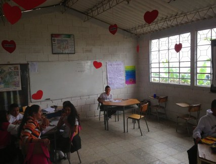 The school in La Tribuna, Belén de Umbría, Risaralda, Colombia