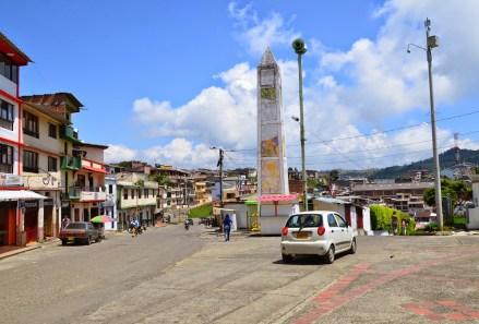 Obelisk in Anserma, Caldas, Colombia