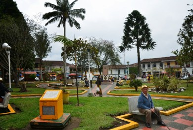 Plaza in Filandia, Quindío, Colombia